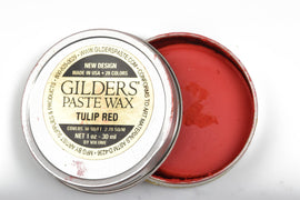 TULIP RED Gilders Paste, Wax Patina Paint,  Wax Gilders Paste, 1 oz, 30ml, pnt0024