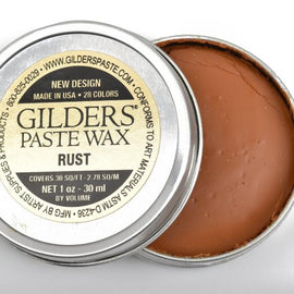 RUST Gilders Paste, Wax Patina Paint,  Wax Gilders Paste, 1 oz, 30ml, pnt0020