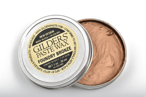 FOUNDRY BRONZE METALLIC Gilders Paste, Wax Patina Paint,  Wax Gilders Paste, 1 oz, 30ml, pnt0027
