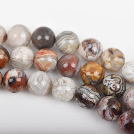 8mm PAINTED DESERT AGATE Round Beads, Natural Gemstone, full strand, 50 beads, gag0281