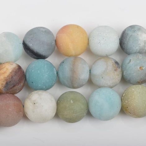 8mm AMAZONITE Round Gemstone Beads, FROSTED Matte Beads, full strand, about 42 beads, gaz0017