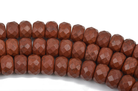 12mm BROWN Howlite FACETED Rondelle Beads, trade beads, full strand, about 54 beads, how0574