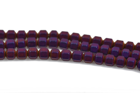 3mm Matte Purple Iris HEMATITE HEXAGON Beads, Titanium coated gemstone beads, full strand, 150 beads, ghe0121