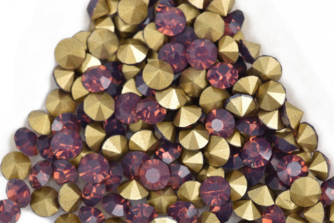 50 ss17 pp32 Chaton Crystals, Purple CYCLAMEN OPAL, Point Back Rhinestones, 4mm-4.1mm,  Grade A quality, cry0157