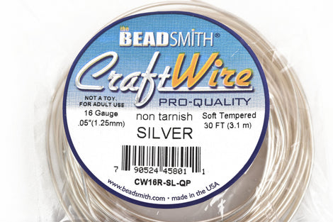 16 Gauge Silver Craft Wire Tarnish Resistant Craft Wire