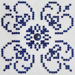 "Rhinestone Painting Kit, BLUE ON WHITE Design, Diamond Dotz Diamond Embroidery, Diamond Facet Art Kit, Bling Wall Art, 4x4"" canvas kit0067"