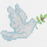 "Rhinestone Painting Kit, DOVE OF PEACE, Diamond Dotz Diamond Embroidery, Diamond Facet Art Kit, Bling Wall Art, 4x4"" canvas kit0068"