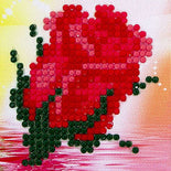 "Rhinestone Painting Kit, ROSE FLOWER, Diamond Dotz Diamond Embroidery, Diamond Facet Art, Bling Wall Art 3x3"" canvas kit0074"