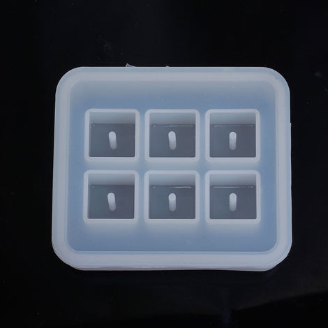 RESIN Square BEAD MOLD, Silicone Mold to make 16x16mm square rectangular beads, reusable, tol0694