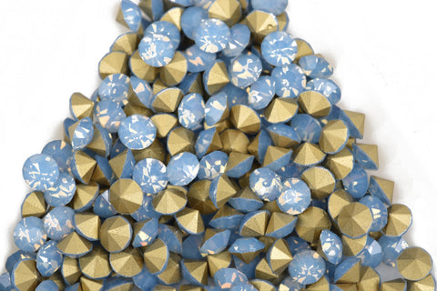 50 ss17 pp32 Chaton Crystals, AIR BLUE OPAL, Point Back Rhinestones, 4mm-4.1mm,  Grade A quality, cry0160