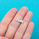 10 pieces 2015 Graduation Pewter Charms or Pendants chs0159a
