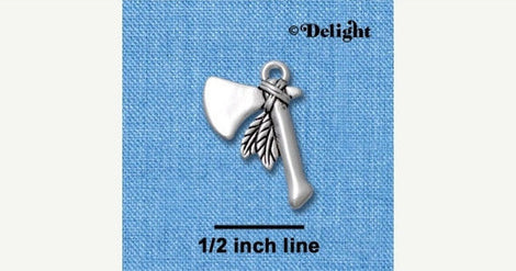 1 silver plated INDIAN TOMAHAWK Charm  chs1206
