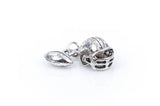 10 3D Moveable Antique Silver FOOTBALL Helmet and Football Dangle Charm Pendants with 5mm Open Jump Ring  chs1383