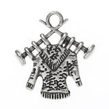 10 Silver Metal KNITTING Sweater Charm Pendants chs0518