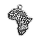 10 AFRICA Charms, Africa Pendants, map charms, 24x19mm, chs2425