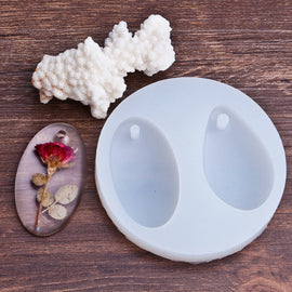 TEARDROP OVAL RESIN Mold, Silicone Mold to make teardrop pendants, reusable, makes 2 shapes, tol0699