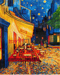 "Rhinestone Painting Kit, CAFE AT NIGHT Van Gogh, Diamond Dotz Diamond Embroidery, Diamond Facet Art, Bling Wall Art 20x16"" canvas kit0086"