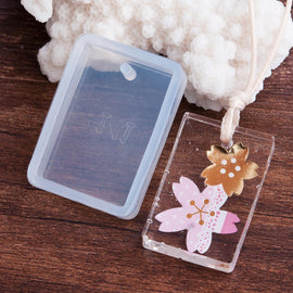 "2 RESIN Rectangle PENDANT MOLDS, Silicone Mold to make rectangular 3x2cm (1-1/8"" x 3/4"") charm pendants reusable, tol0695"