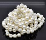 14mm IVORY Round Glass Pearls . 25 beads . bgl0018