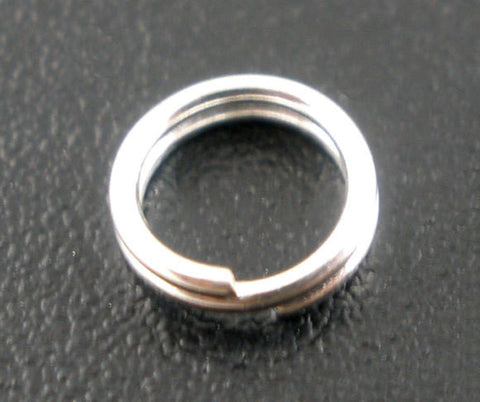 50 SMALL Silver Plated Double Loops Split Rings Open Jump Rings 5mm jum0053a