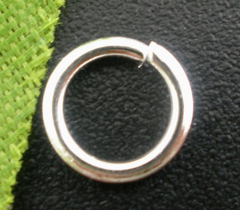 50 Silver Plated Open Jump Rings 7mm x 1.0mm, 18 gauge wire  jum0043a