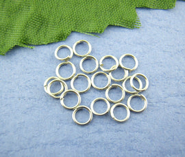 50 Silver Tone Open Jump Rings 4mm x 0.7mm, 21 gauge wire jum0097