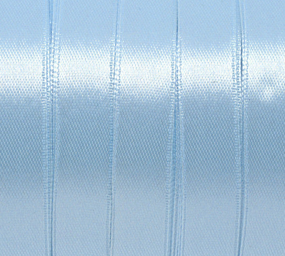 1/2 inch wide Shiny LIGHT Blue Satin Ribbon for Weddings, Scrapbooking, Jewelry Making, Sewing, Gift Wrap . 25 yards rib0009