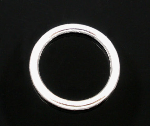 25 PCs LARGE 16mm Silver Plated Soldered Closed Jump Rings 12 gauge wire Findings  jum0030a