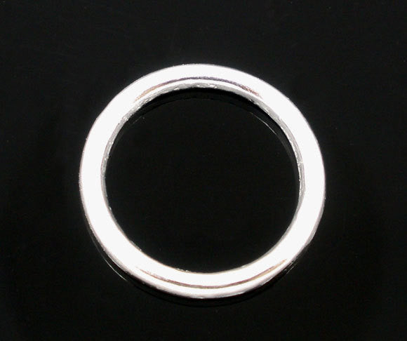 100 PCs LARGE 14mm Silver Plated Soldered Closed Jump Rings 12 gauge wire Findings jum0031
