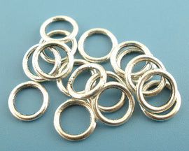 300 pieces Antique Silver Tone Soldered Closed Jump Rings 17 gauge wire Findings  8mm   jum0033b