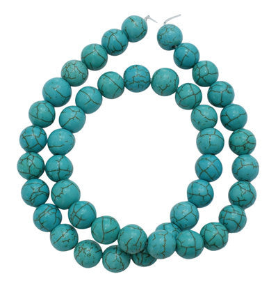 8mm Turquoise Blue Howlite Stone Gemstone Beads how0209