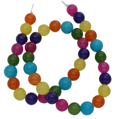 "15.5"" Strand Dyed Jade Stone 8mm Gemstone Beads approx 50 beads MIXED BRIGHT COLORS gjd0021"