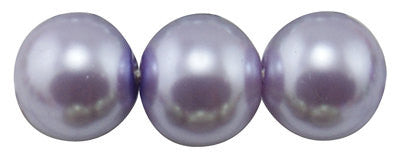 "4mm LAVENDER PURPLE Round Glass Pearls . long 32"" strand . about 210 beads . Bgl0403"
