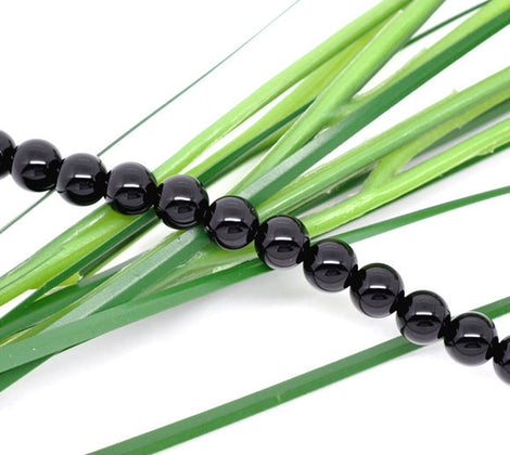 6mm BLACK ONYX Agate Round Beads, full strand, about 65 beads, gon0004