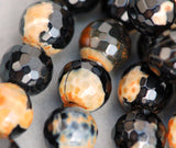 "1 Strand 15.5"" Round Dyed Faceted MIDNIGHT HARVEST Agate Beads 10mm  Natural Gemstones gag0029"
