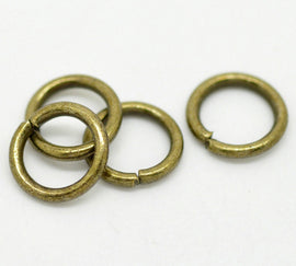 200 Antiqued Bronze Tone Open Jump Rings 8mm x 1.2mm, 16 gauge wire   Large BULK WHOLESALE PACKAGE  jum0101