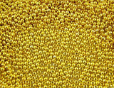 1000 Gold Plated Smooth Round Ball Spacer Beads  3mm  bme0058