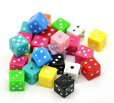 20 DICE beads, mixed colors as shown . 8mm . bac0147