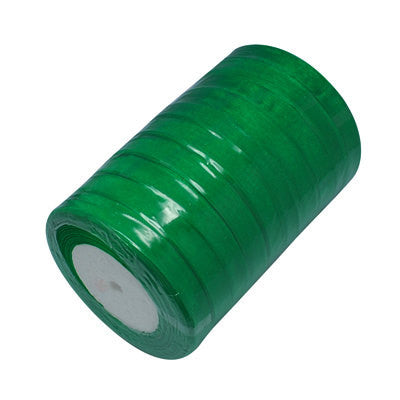"50 yards (150 feet) KELLY GREEN Organza Ribbon Trim 10mm 3/8"" wide  rib0038"