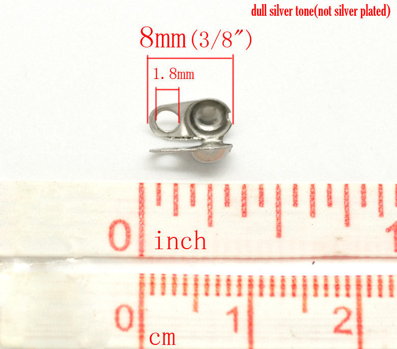 100 STAINLESS STEEL Metal Brass Ball Chain End Connectors for 3.2mm ball chain fin0340