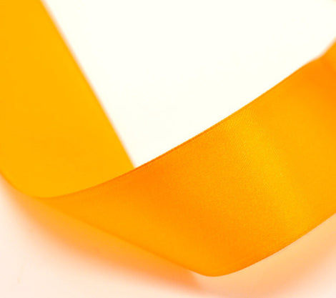 1.5 inches wide TANGERINE ORANGE Satin Ribbon for Weddings, Scrapbooking, Jewelry Making, Sewing, Gift Wrap . 25 yards rib0012