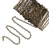 1 yard (3 feet) BLACK and GOLD Diamond Cut Cable Link Chain fch0161a