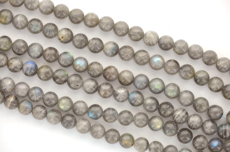 8mm LABRADORITE Round Beads, Natural Gemstone Labradorite, full strand, about 51 beads, glb0008