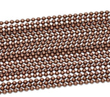 10 meters (over 32 feet) COPPER TONE Metal Ball Chain 2.4mm  fch0128