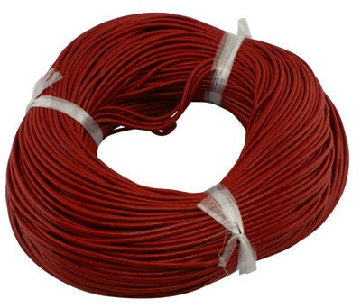 10 yards (30 feet) CRIMSON RED LEATHER Jewelry Cord . Round 2mm cor0069