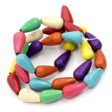 1 strand Howlite TEARDROP Beads, mixed rainbow colors  HOW0105