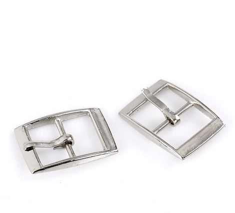 6 Silver Tone Metal Rectangle Belt Buckle Findings fin0158