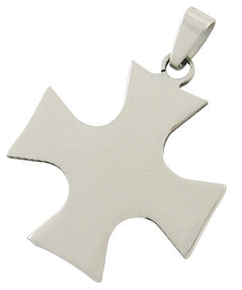 1 Stainless Steel Metal Stamping Blank Pendant, MALTESE CROSS shape, bail . 16 gauge  msb0131