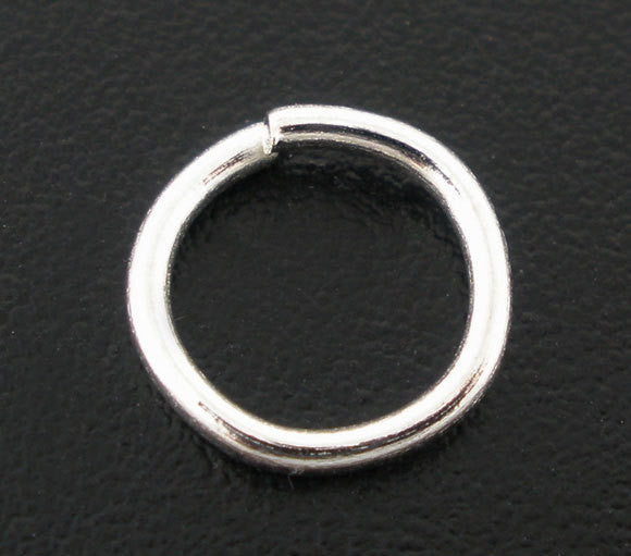 BULK 200 Silver Plated Thick Open Jump Rings 8mm x 1.5mm, 15 gauge wire  jum0021b