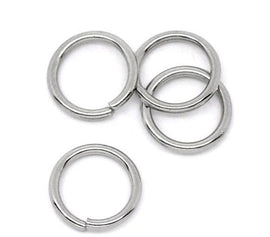 50 pcs 6mm STAINLESS STEEL Thick Open Jump Rings 18 gauge wire Findings jum0011a